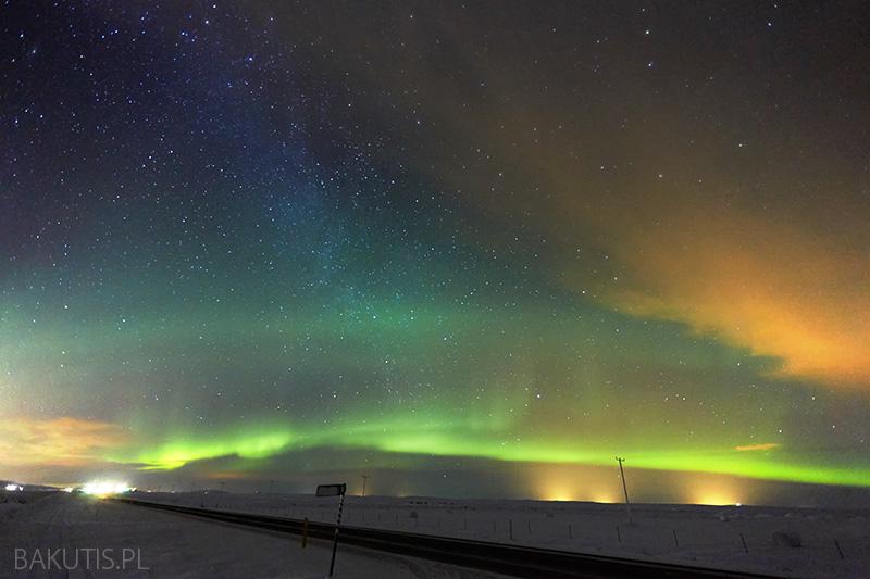 Zorza polarna na Islandii