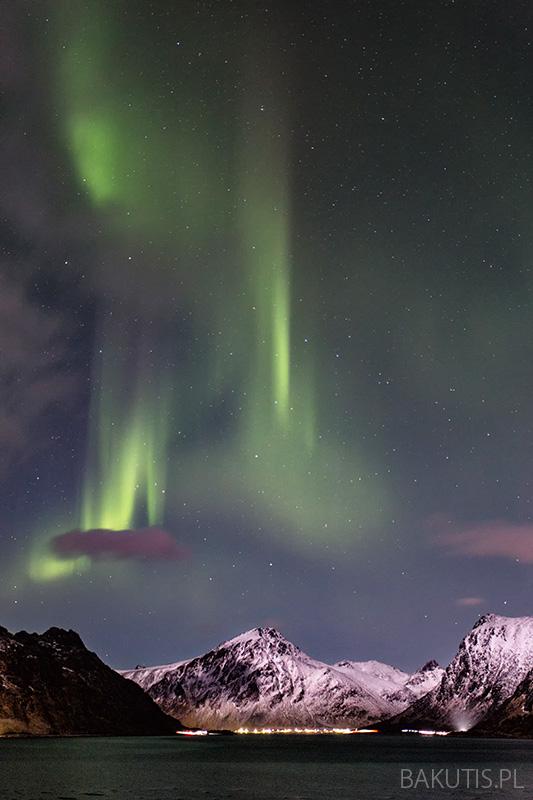 Zorza polarna na Lofotach