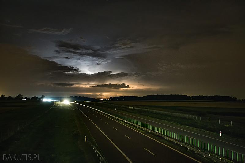burzowe niebo nad Wielkopolską
