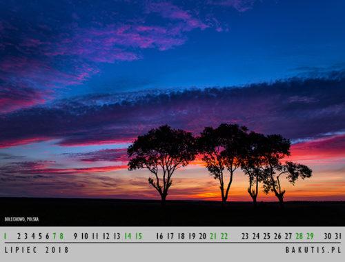 kalendarz 2018 - lipiec
