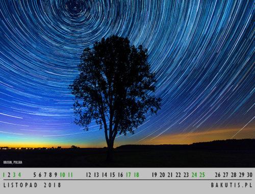 kalendarz 2018 - listopad