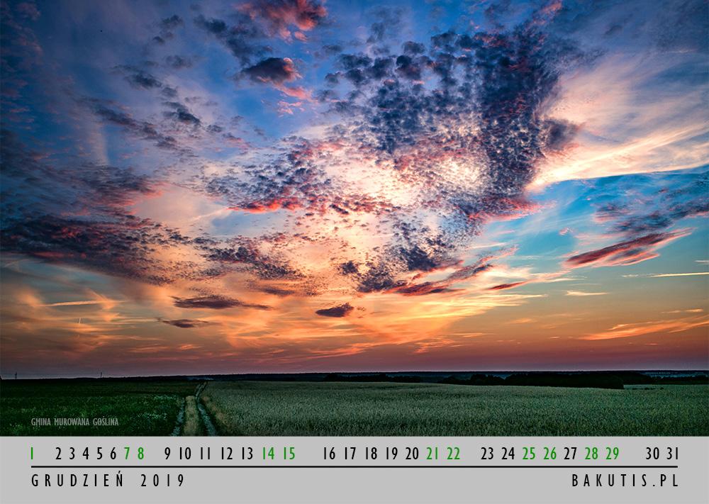 Kalendarz 2019 - grudzień