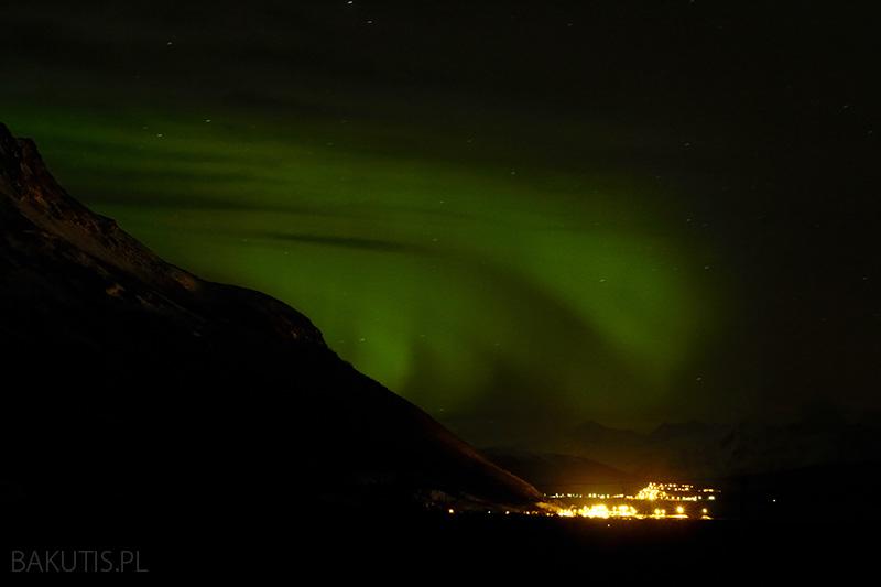 zorza polarna w Norwegii
