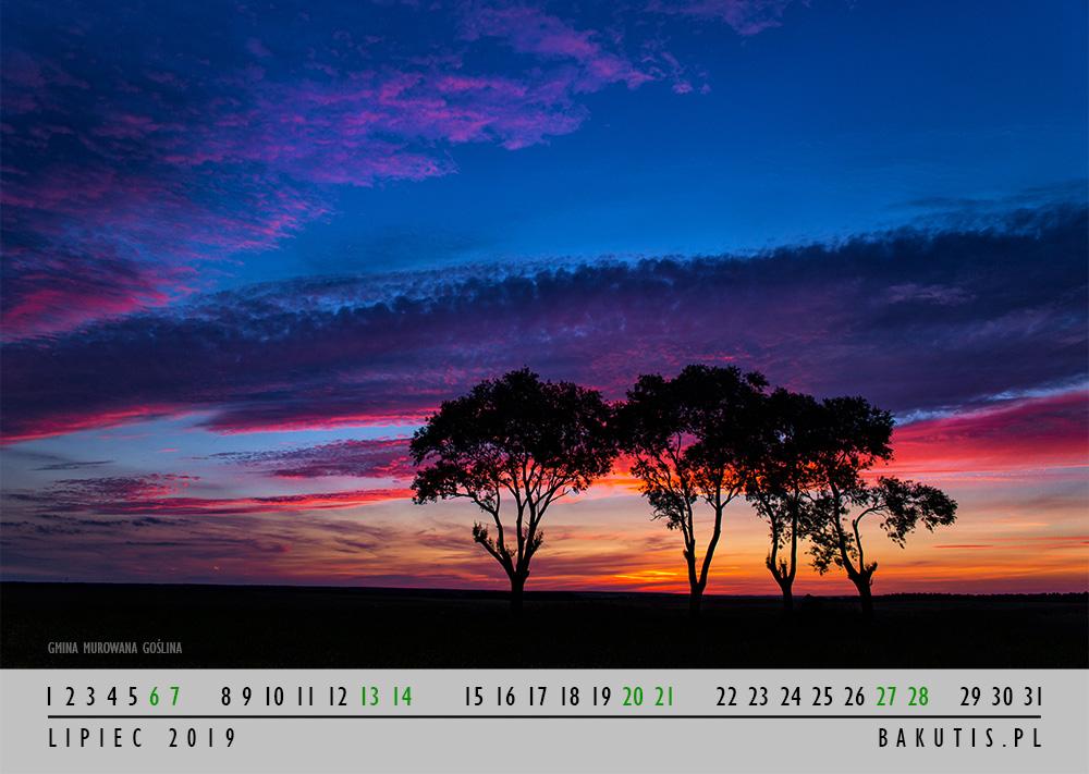 Kalendarz 2019 - lipiec